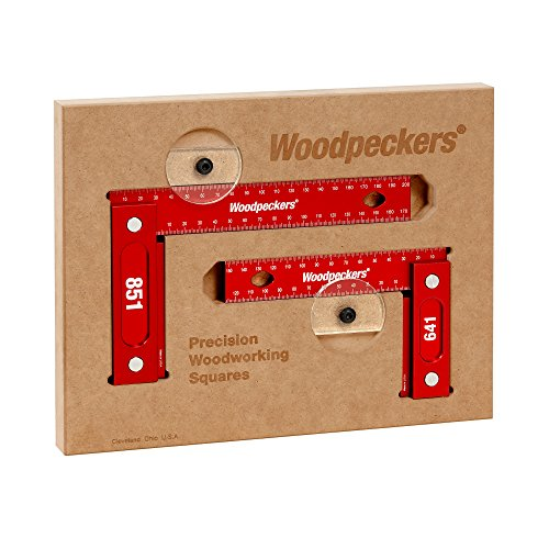 Woodpeckers Precision Woodworking Tools 641851M 150mm and 200mm Square Combo Metric