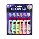 Tulip Dimensional Glow Fabric Paint, 6-Pack