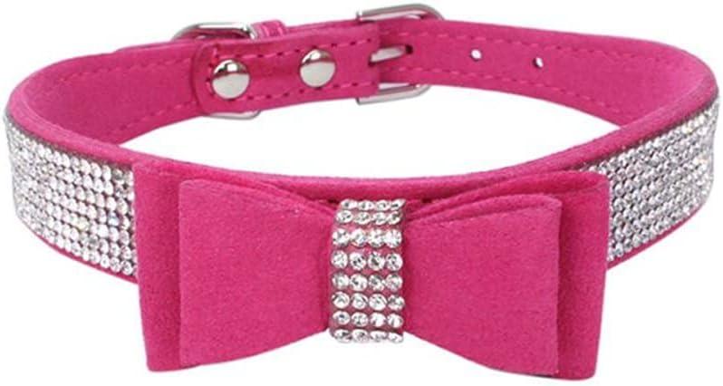 Bling Crystal Bow Knot Dog Cat Collar Rhinestone San Jose Mall Elegant S
