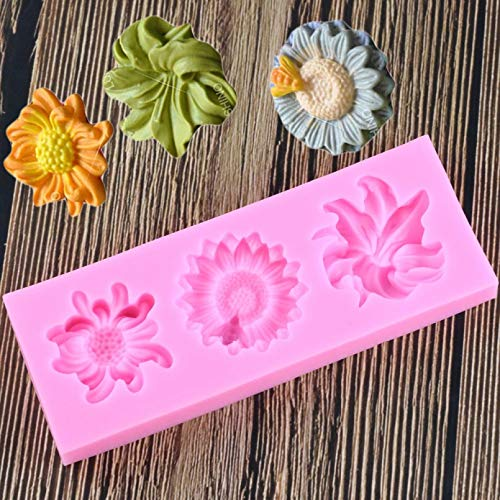 Bordied Hermosa Margarita Forma De Flor Molde De Pastel De Silicona Molde para Hornear Pastel De Chocolate 3D Molde De Herramienta De Decoración De Pasteles