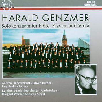Harald Genzmer: Solokonzerte für Flöte, Klavier und Viola