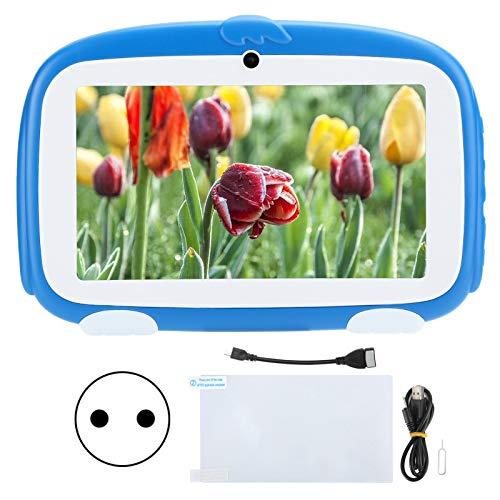 Tablet PC para niños,7 pulgadas HD 1GB+16GB WiFi para Android 9.0 para Google Kids Tablet con carcasa anti-caída,control de padres Altavoz de alta fidelidad Aprendizaje E-Reader Tablet PC Regalos (EU)
