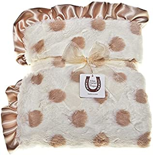 Max Daniel Designs | Champagne Dots Baby Blanket