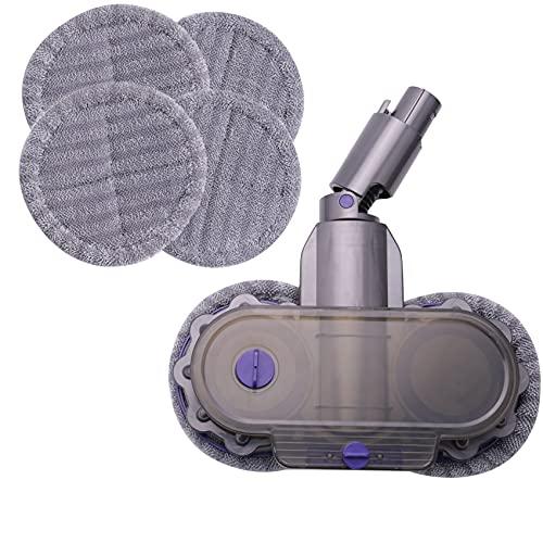LilyJudy Tanque de Agua de Tela con Cabezal de Fregona para V6 Repuesto de Piezas de Aspiradora Accesorios Encerado en Seco/HúMedo 8 Piezas