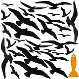 2 Piezas Calcomanías de Ventana de Anticolisión, 15 Modelos Pegatinas de Ventana en Forma de Pájaros para Prevención de Personas y Aves Golpes en Ventana Accesorios Fiesta