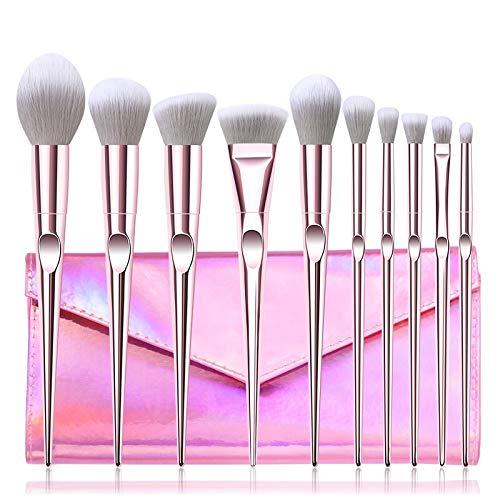 10-teiliges Make-up-Pinsel-Set für Lidschatten, Augenbrauen, Sculpting Power-Pinsel, Gesichtsmake-up, Kosmetikpinsel.