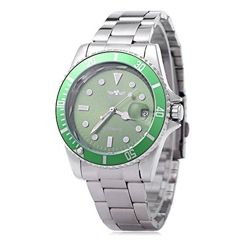 Leopard Shop WINNER W042602 - Reloj de pulsera automático luminoso para hombre, con fecha y tapa trasera transparente