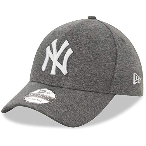 New Era Jersey 9Forty Gorra Ajustable NY Yankees Gris Oscuro y Blanco, Hombre, Gorra...