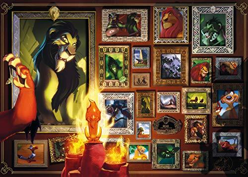 Ravensburger Puzzle 1000 Pezzi, Scar, Il Re Leone, Collezione Villainous, Puzzle per Adulti, Puzzle Villainous Disney, Stampa di Qualità, 16524
