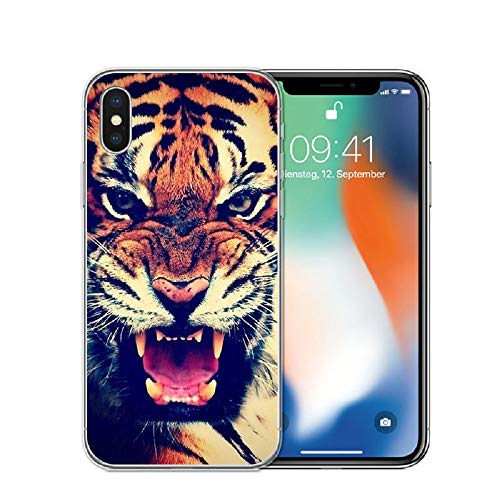 APHT Naturaleza Animales 3D Phone Funda Silicone with Pattern Shockproof Soft Flexible Gel TPU Rubber Back Cover Bumper Skin for iPhone 5-12 Pro MAX