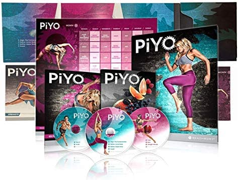 PiYo Base Kit 5 DVDs Pilates Yoga Workouts Fitness Program Workout with Exercise Videos Fitness product image
