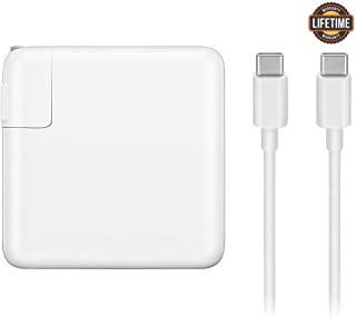 Mac Book Pro Charger, 61W USB-C To USB-C Ac Power Adapter Charger Replacement For MacBook Pro 12 Inch 13 Inch, MacBook Air 2018, With Type-C Charge Cable