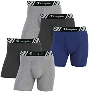 Men's Boxer Briefs All Day Comfort No Ride Up Double Dry X-Temp 5 Pack