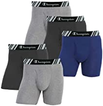 Champion Men's Boxer Briefs All Day Comfort No Ride Up Double Dry X-Temp 5 Pack