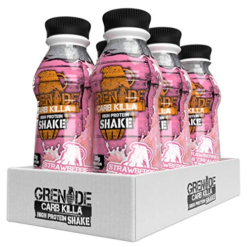 Grenade Carb Killa Strawberries and Cream High Protein Shake, 6 x 500 ml