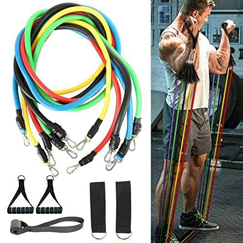 TOPJESS Bandas Elasticas Musculacion Gomas Elasticas Fitness con 5...
