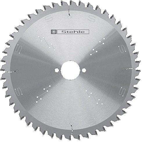Stehle HW K+G negativ - Hoja para sierra tronzadora e ingletadora (254 x 3,2 y 2,2 x 30 mm, 24 dientes alternos con ángulo de corte negativo)