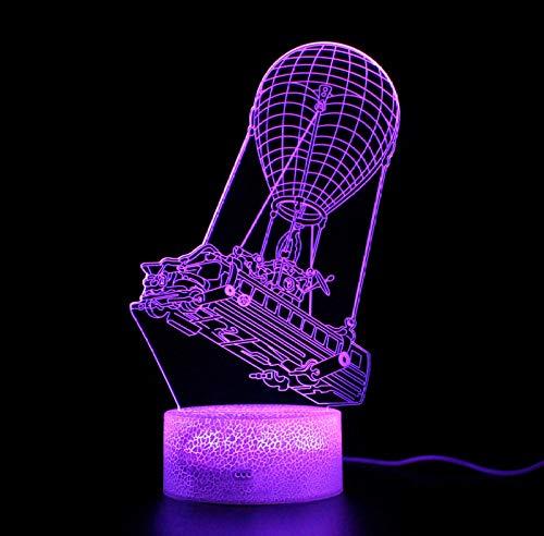 Raak de afstandsbediening 3D nachtlampje grote uitlaat Battle Bus LED kleurlicht USB nachtlampje deco slaapkamer sfeerlicht