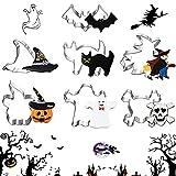 Halloween Stampi Biscotti, 7pcs Halloween Cookie Cutters, Stampi Halloween, Formine Biscotti Halloween Set, Halloween Stampi Biscotti DIY, Halloween Stampini Fondente, Stampo halloween