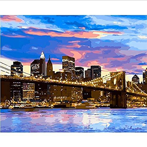 Legpuzzels 1000 tabletten Brooklyn Bridge Adolescent Intellectueel Educatief Spel Stress Reliever Verjaardagscadeau Speelgoed Gepersonaliseerde Moderne Kunstdecoratie 70x50cm