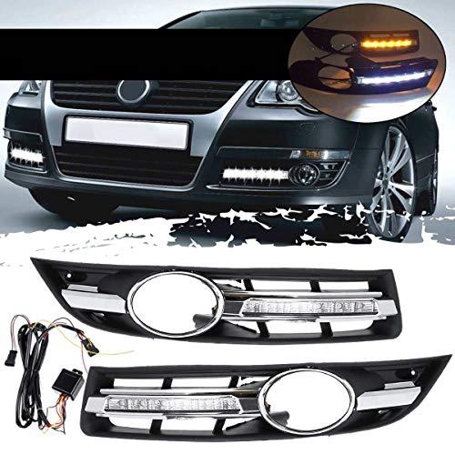 JzyhNzd Autolicht Tagfahrlicht mit Grill für VW Passat B6 2006-2011