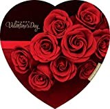 Elmer Chocolate Valentine's Day Rose Flowers Heart Shaped Chocolate Gift Box, 12 Ounce Box