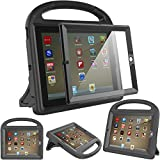 Surom Kids Case with Built-in Screen Protector,Shockproof Handle Stand Case for iPad 2