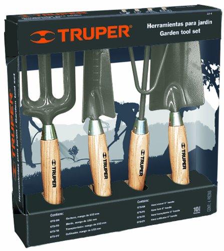 Truper 30642 - Kit de Herramientas de jardín con aro, cultivador, trasplantado,...