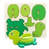 winwintom 3D Puzzles de Madera, Montessori Mini Juguete Divertido Educativo para...