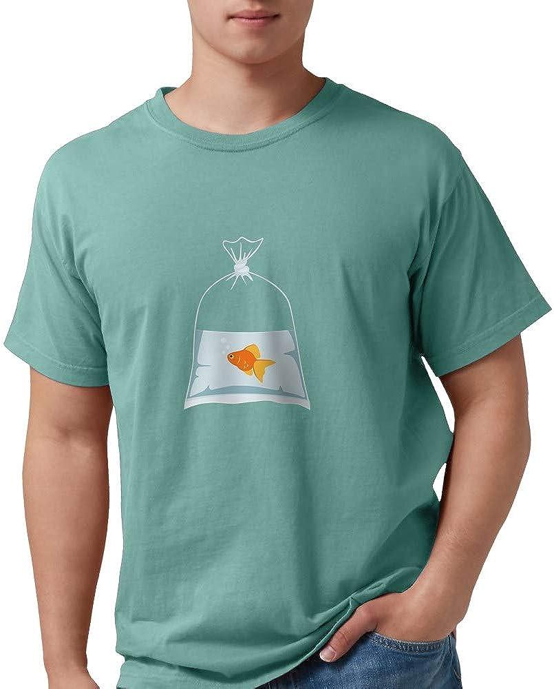 CafePress Goldfish in Bag T Comfort 高い素材 Colors Shirt SALE Mens