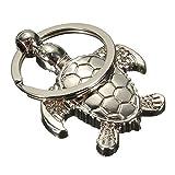 Porte-clés Porte-clés en métal plaqué argent Tortue Tortue Pendentif for Hommes Femmes Accessoires Auto...