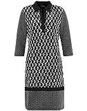 Taifun Damen 481046-16602 Kleid, Mehrfarbig (Black Gemustert 1102), (Herstellergröße: 40)