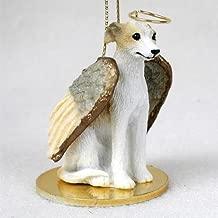 Whippet Tan & White Pet Angel Ornament