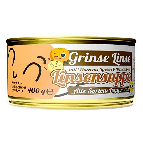 Schlump-Chili⎥Wölfchens Gourmet Grinse Linse Linsensuppe in der Dose (1 x 400 g)