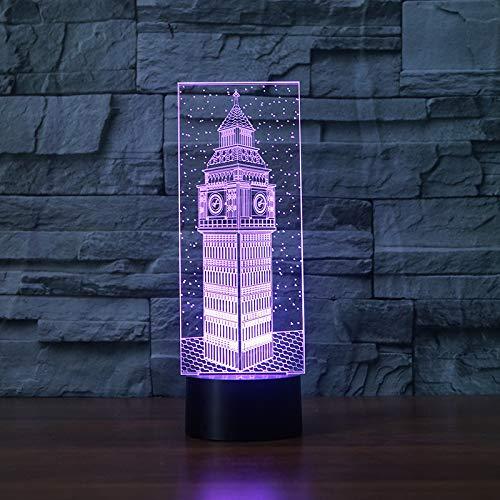 3D-lamp – optische illusie, 3D-nachtlampje, illusie lamp, 7 kleurverandering, raak licht aan