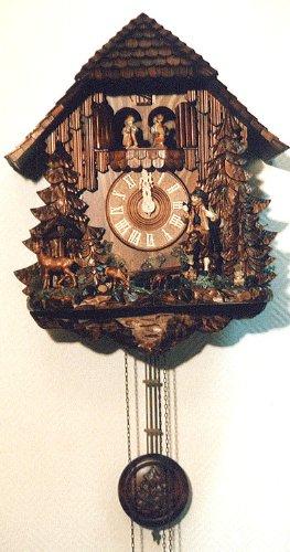 August Schwer Reloj cucú Cazador, Grupo de corzos