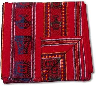 Shamans Market Peruvian Woven Throw Red