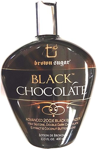 New Black Chocolate 200x Black Bronzer Indoor Tanning Bed Lotion By Tan Inc. by Brown Sugar Black Chocolate