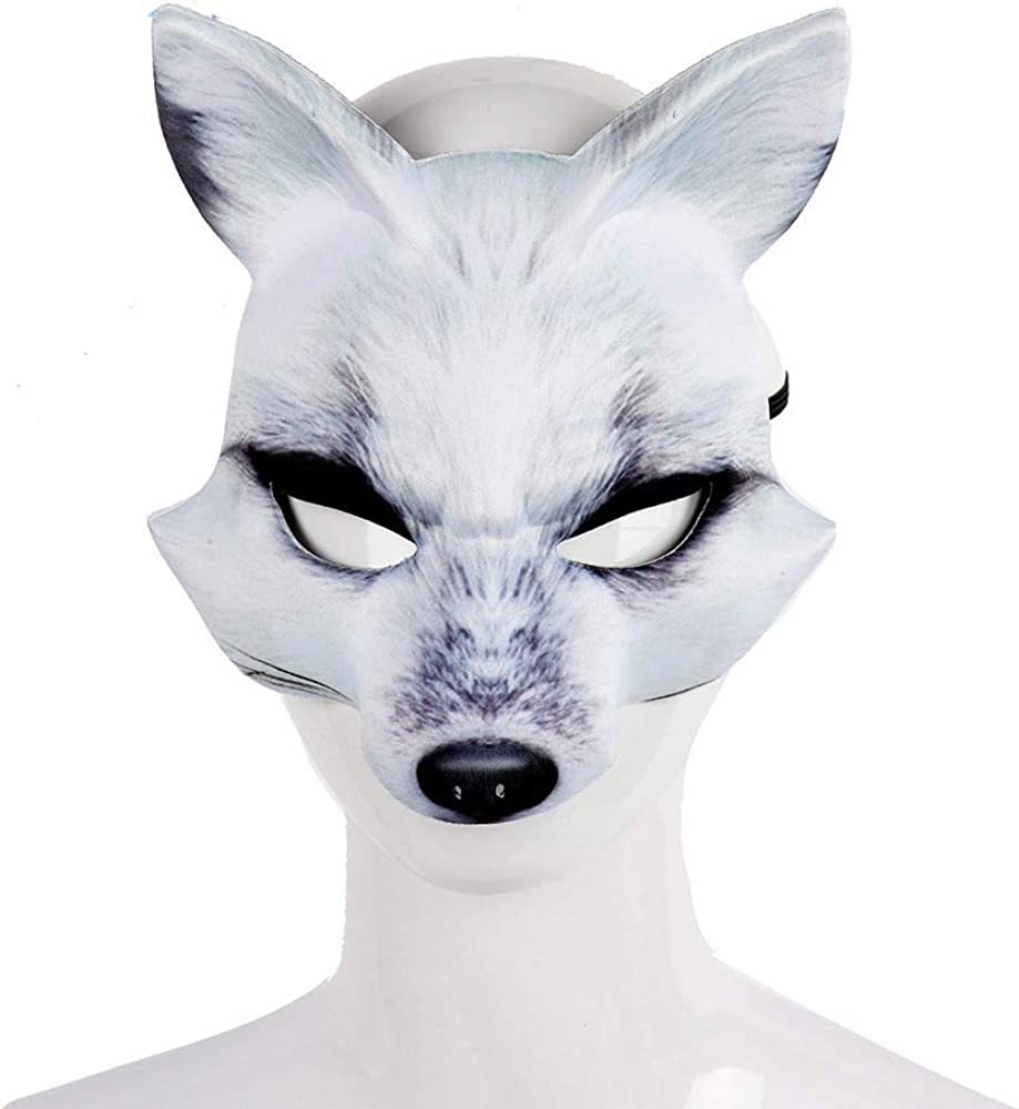 KKBES Halloween Mask Fox Half Mas Animal All items free shipping Face Cosplay Masks Spring new work