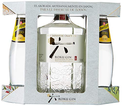 Roku Gin Ginebra Artesanal Japonesa + Estuche 2 Tónicas, 43% - 700 ml