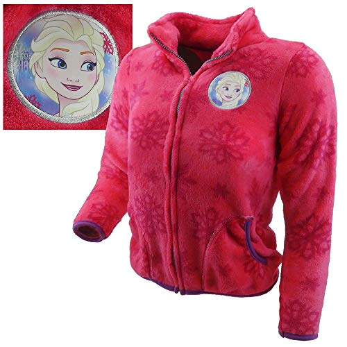 TVM Europe Fleecejacken Kinder Rosa Frozen Emma Disney Mädchen warm (98/104)