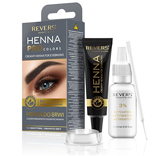 Henna für Augenbrauen ProClors Bio Formula Cremiges Henna mit Arganöl und Rizinusöl (1.1 Graphite Grey)