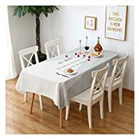 テーブルクロス 防水性と耐油性のコットンとリネンの長方形のコーヒーテーブルテーブルクロスモダンなミニマリストのテーブルクロス、7色、6サイズ (Color : C, Size : 140*140cm)