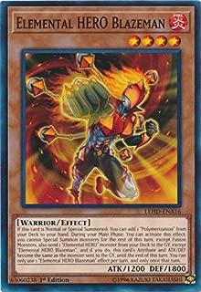 Yu-Gi-Oh! - Elemental Hero Blazeman - LEHD-ENA16 - Common - 1st Edition - Legendary Hero Decks - Destiny Hero Deck