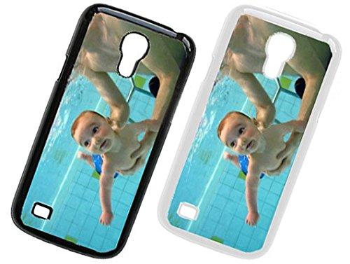 PixiPrints Handyhülle aus Kunststoff selbst gestalten * eigenes Foto * Schutz mit eigenem Bild, Farbe:Schwarz, Kompatibel mit Samsung Galaxy S4 Mini