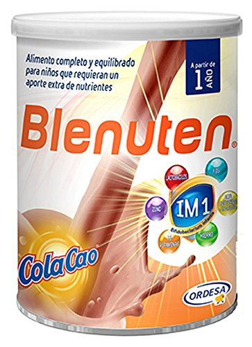 Blenuten Cola Cao 400 grs, alimento completo y equilibrado para niños que requieran un aporte extra de nutrientes