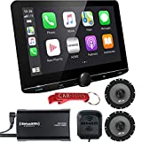 Kenwood eXcelon Reference DNR1007XR 10.1' Extra Large Navigation Multimedia Receiver Bundle with Alpine Speakers & SiriusXM Tuner. Capacitive Screen, 3D GPS, Apple CarPlay, Android Auto, Maestro Ready
