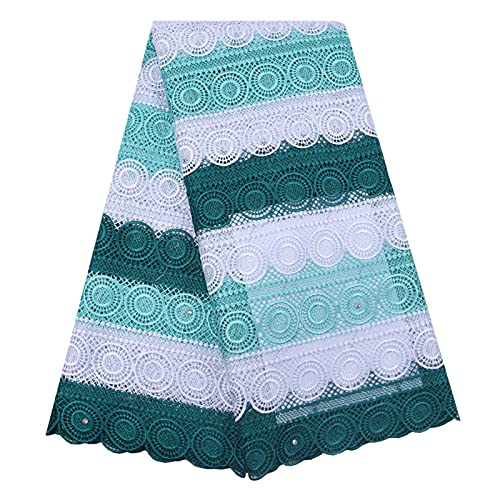 CJWSLYT Tela de Encaje Tela De Encaje De Cuerda De Encaje De Tela De Seda para Vestido De Fiesta De Boda Tela (Color : 1847 Green)