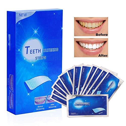Aiooy White Strips 28pcs Zahnaufhellung Zahn Bleaching Strips für Weißere Zähne Zahnweiß Streifen mit Minzgeschmack Teeth Whitening Zahn