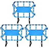 Valla de plástico obra peatonal en color azul, valla con patas extraíbles de 1 metro (3- Vallas)